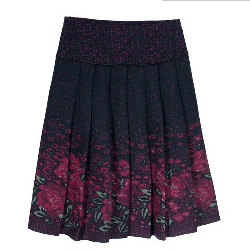 Skirts women fashion autumn winter skirt high waist pleated skirt plus size elegant slim casual skirts women