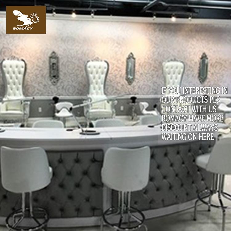 MESA DE MANICURA moderna muebles de salón doble barra de uñas MESA ...