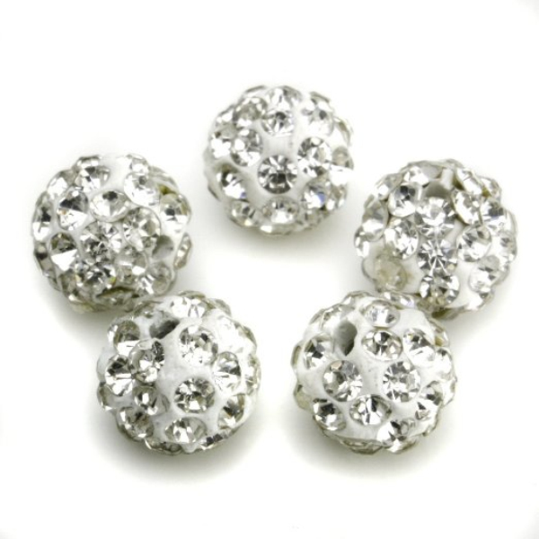 Fashion wholesale ball shape 10mm diameter crystal pave wholesale charms