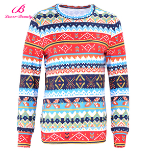 Hot Selling Autumn Winter Christmas Pattern Blouse Long New Design Sweatshirt