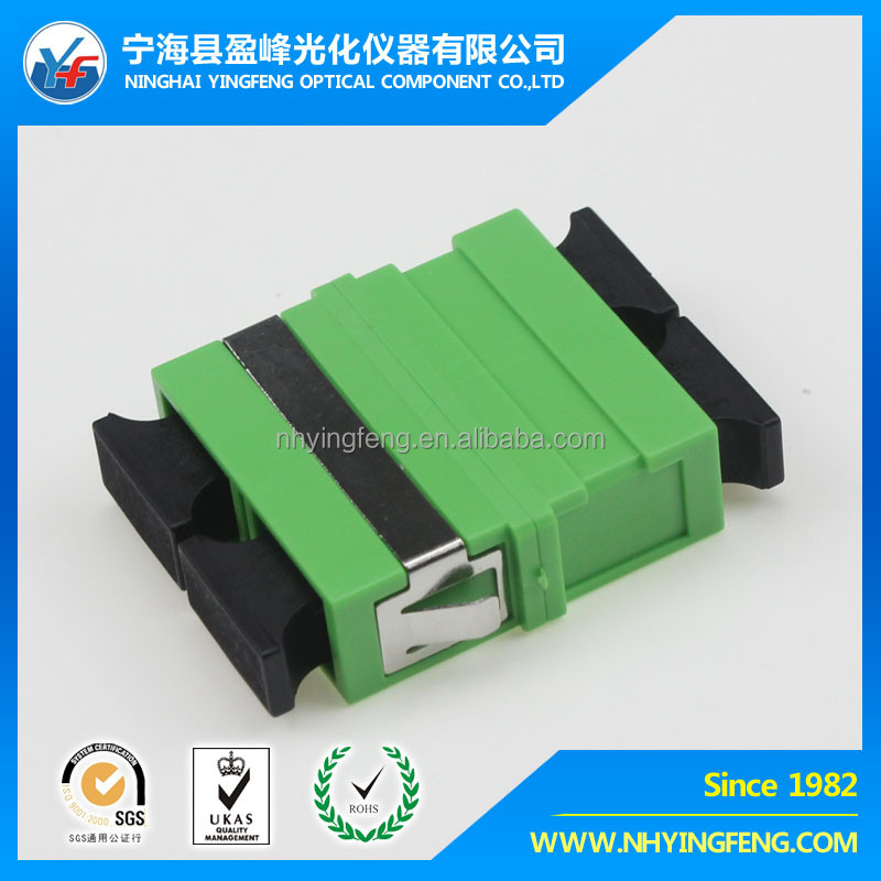 Made in China network market factory sale shopping best price green SC APC DX NO-EAR welding wjth ring fiber optic Adapter