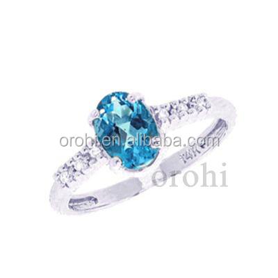 Simple Design Diamond Wedding Ring Natural Gemstone Ring ...