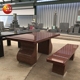 Wholesale garden marble stone dining table set for outdoor furniture