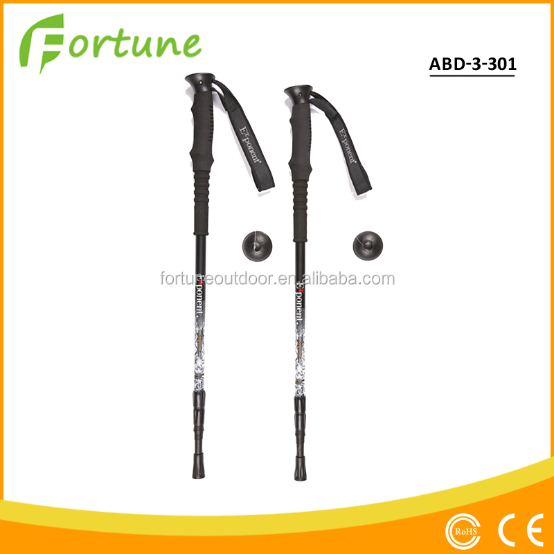 Hot selling aluminum 7075 with PP+EVA handle folding walking stick with inner locked for outdoor hiking
