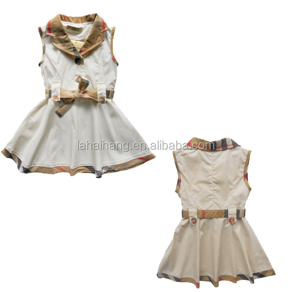 China Supplier Cotton Woven Baby Cotton Frocks Designs