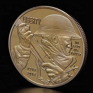 1918-2018 100 Years Anniversary Collection Coin Art Souvenir Collectible Coins, United States Army Liberty Commemorative Coin