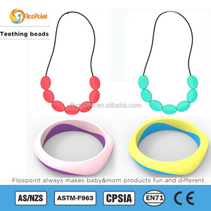 FDA Sweet Silicone Teething Necklace, Food Grade Silicone Beads Necklace Jewelry, Better Than Baltic Amber Teething necklace