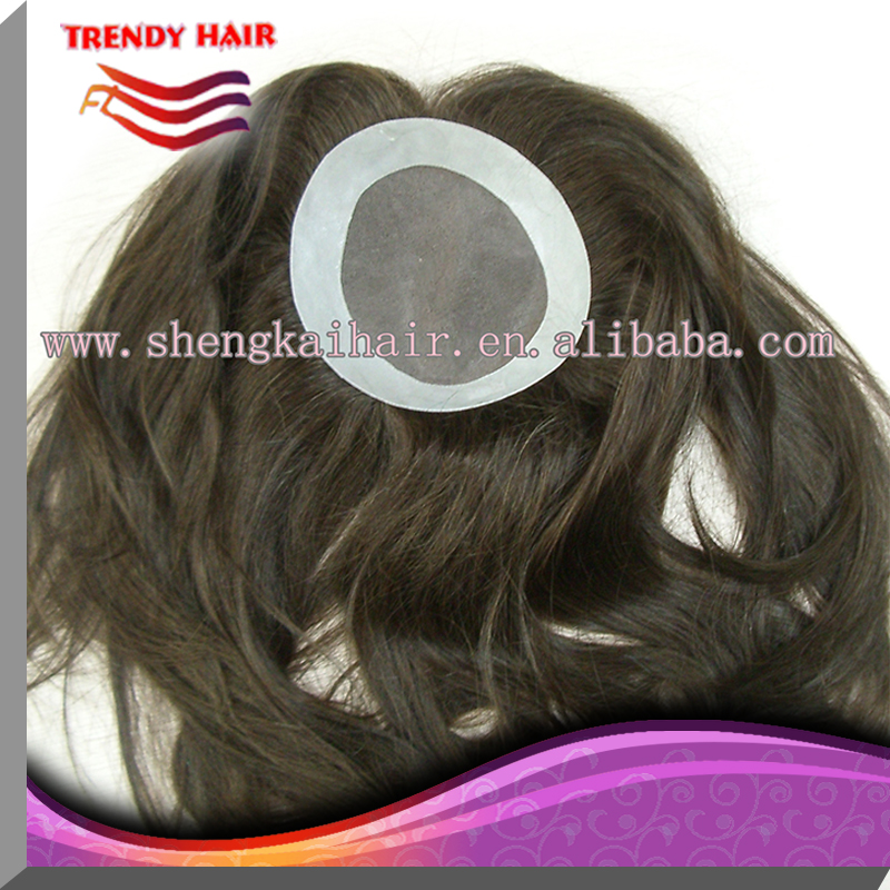 Remy human hair toupee for women