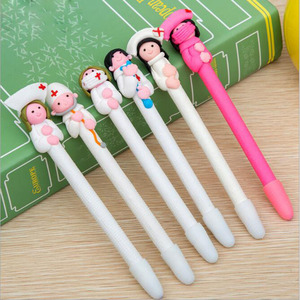 Cute Creative Stationery Wholesale Doctor Nurse Polymer Caly Word Ball Pens Style Random Send