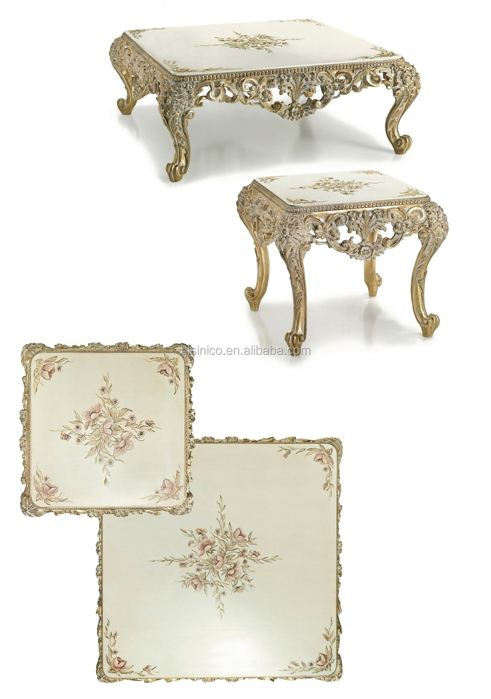 Wondrous Antique Wood Carved Floral Design Marble Top Coffee Table And End Table Set Buy Marble Top Coffee Table And End Table Antique Centre Table Uwap Interior Chair Design Uwaporg