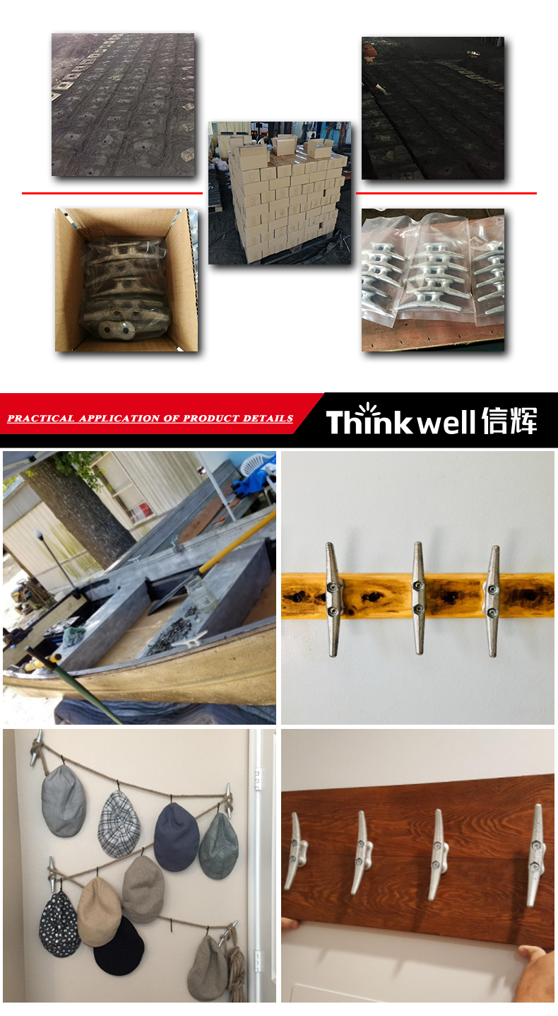 Factory Price High Quality Hot Dip Galvanized Ship Mooring Dock Cleat