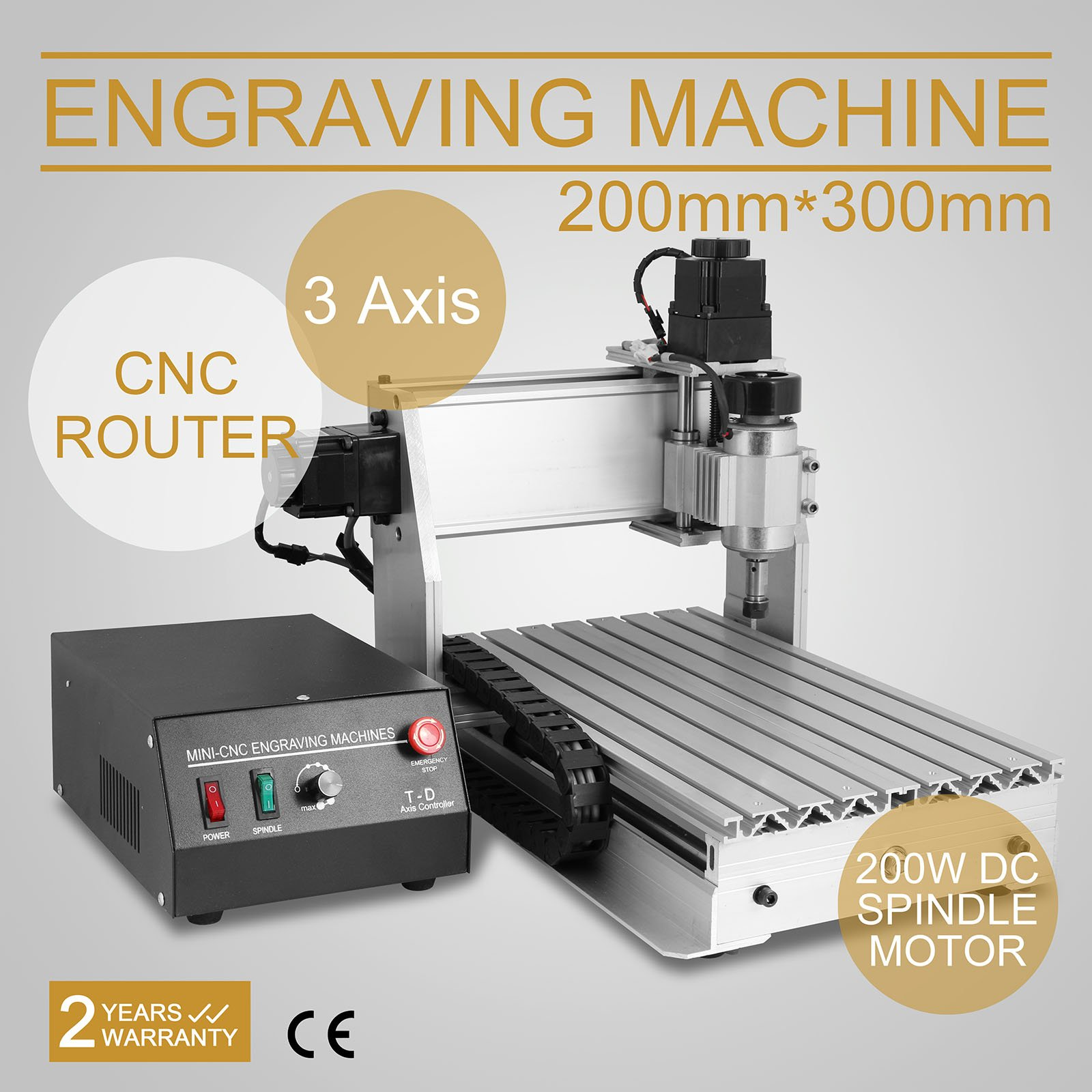 CNCShop CNC Router CNC Engraver Engraving Machine Cutting Machine 3020T 3 Axis Carving Tools Artwork Milling Woodworking