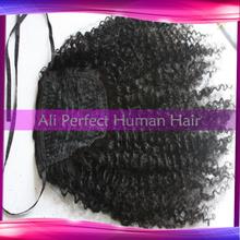 Large Stock 1 1b 2 4 6 8 100 unprocessed virgin brazilian human hair ponytail clip
