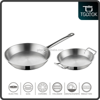Compatible bottom frying pan / stainless kitchen induction cooking pan
