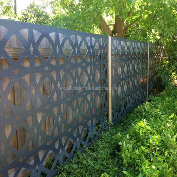 Cnc Wholesale Decorative Exterior Laser Cut Metal Panel Fencing / Infill  Panel / Interior Panel - Buy Sheet Metal Fence Panel,Fence Metal Solid