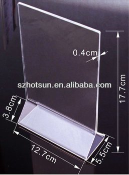 Wholesale Restaurant Table Tent/menu Stand Holder With Customized ...
