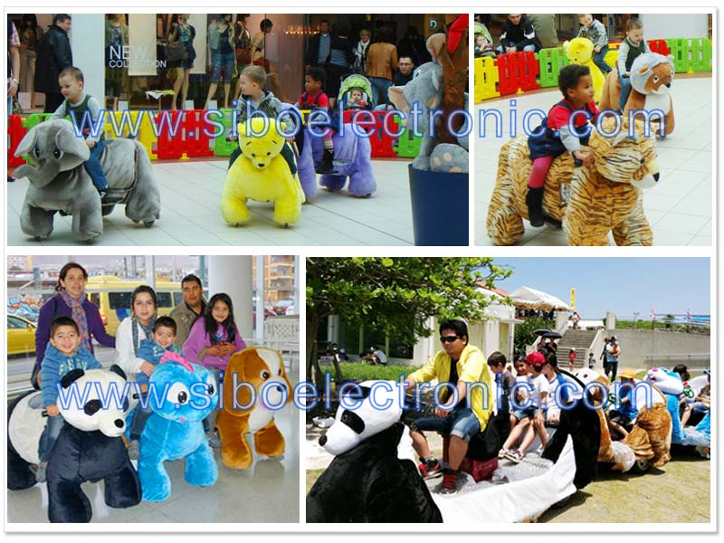 Hottest electric stuffed walking animal ride on toy for mall