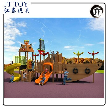 High Quality Wooden Ship Playsets Jt17 9701 Outdoor Kids Adventure Climbing Playground Equipment Buy Playground Equipmentwooden Playground