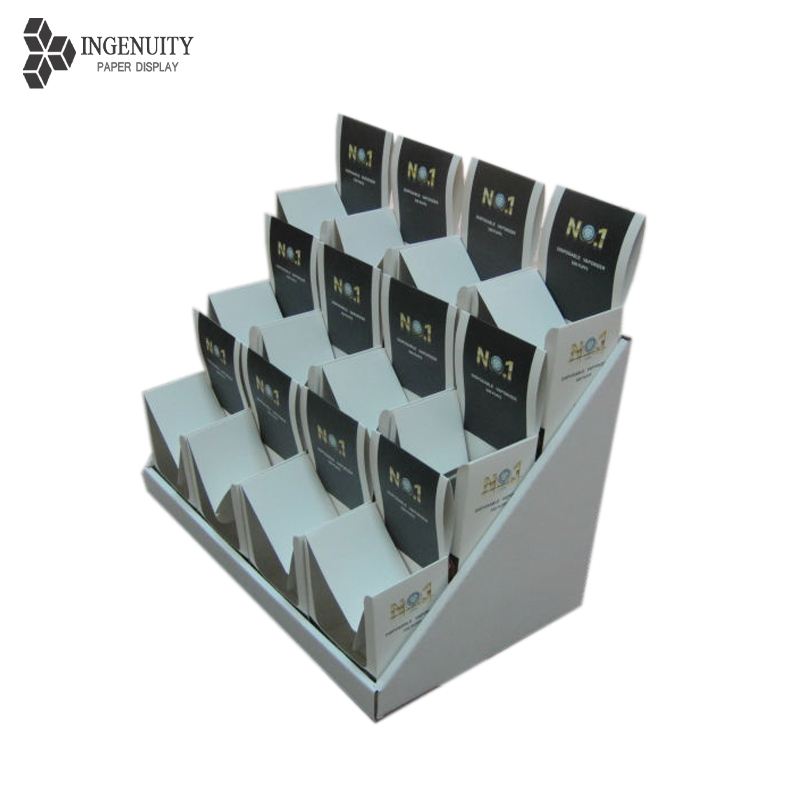 Factory cardboard countertop display for advertising PDQ for memory card promotion
