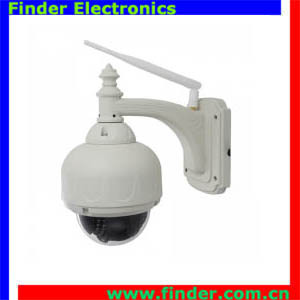 Cheapest wireless IP camera 1.0MP CMOS, H264, IR range of 20 meter with 3xoptical Zoom Optional