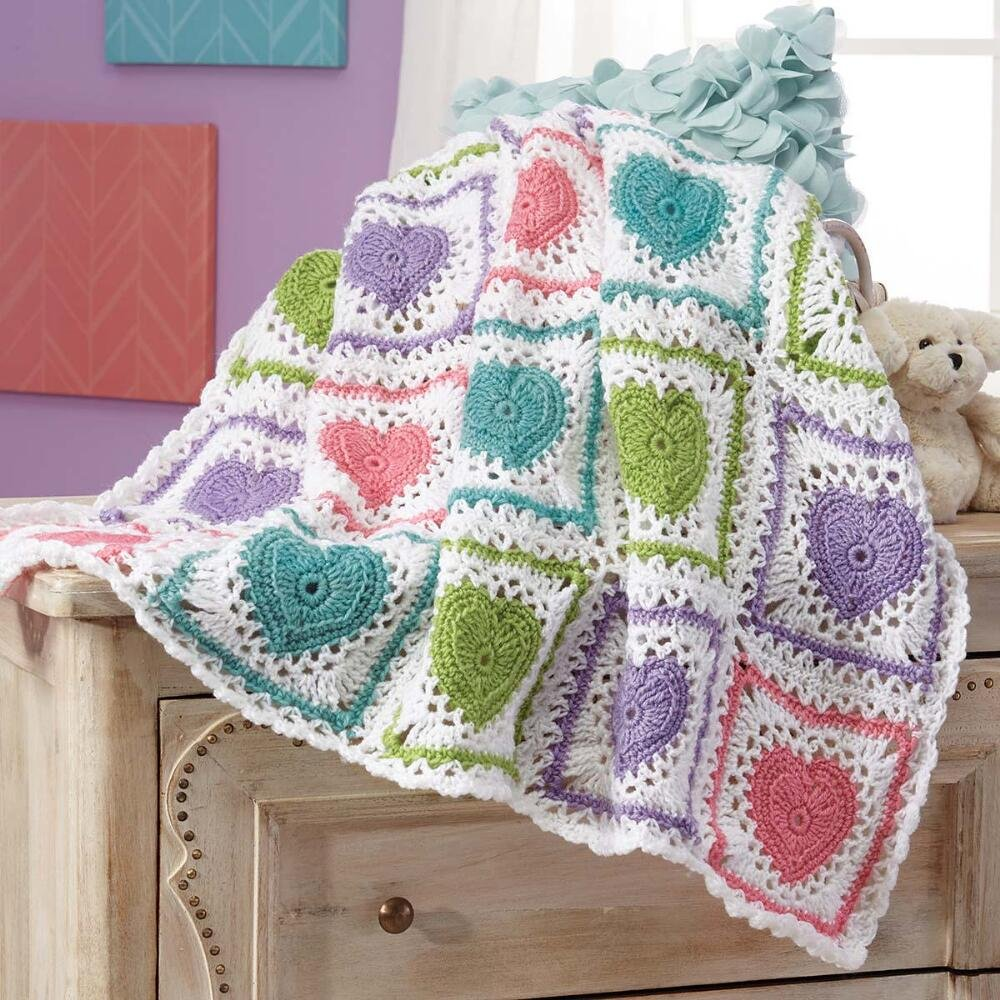 Buy Herrschners Sparkling Rainbow Baby Blanket Crochet Afghan Kit