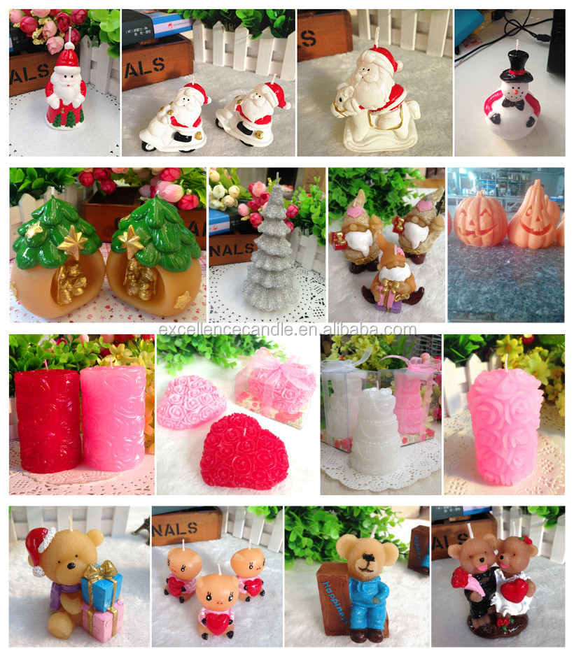 Wholesale funny christmas tree shape candles
