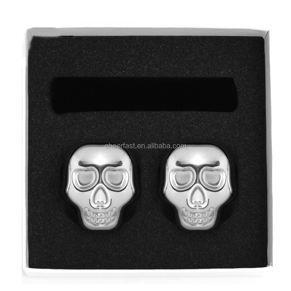 Ice cubes do not rust stainless steel cooling skull set of 2