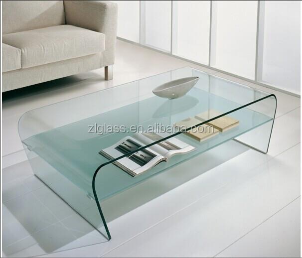 Bijzettafel Gebogen Glas.Glazen Salontafel Gebogen Abo48 Tlyp
