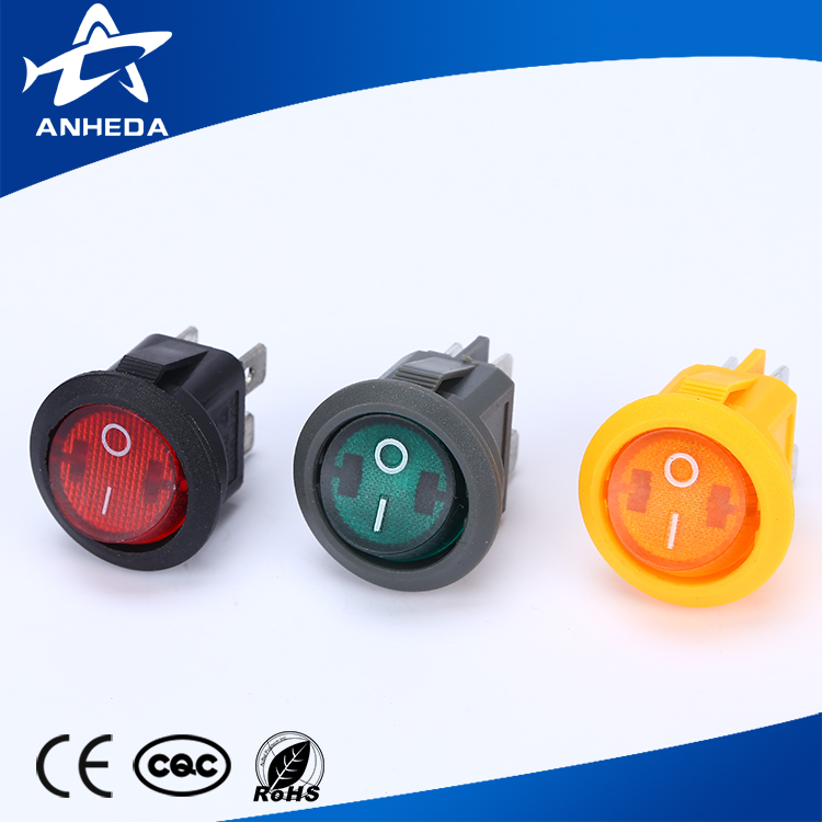 12V Round Rocker Dot Boat LED Light Toggle Switch SPST ON/OFF Sales