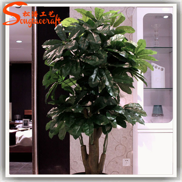artificial money tree plant seven leaves plants artificial green