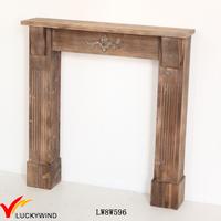 Vintage Floor Stand Indoor Solid Wood Fireplace Decor