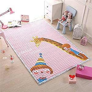 Get Quotations Giraffe And Bay Print Rug For Nursery Kids Play Room Infant Yoga Carpets 4 7 Ft