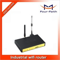 F3824 Industrial 3G Umts Wifi Modem HSPA+ SIM Card Wireless Ethernet M2M Modem with Bandwidth Bonding Wifi routerIPsec Server.