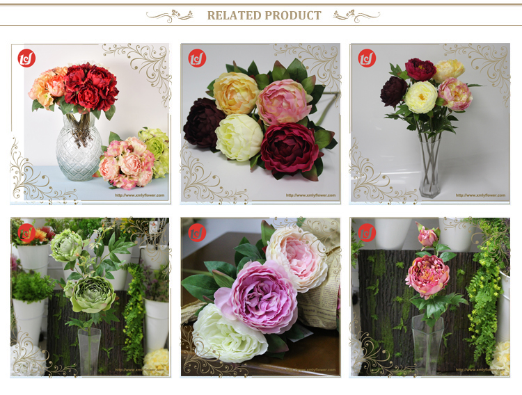 Wholesales New product Flower Silk Fabric Wedding Table Centerpieces Peony Cheap Artificial Flowers