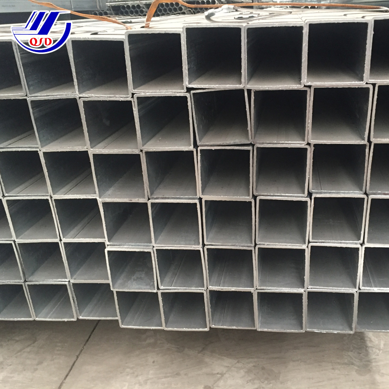 200x200mm black carbon galvanized steel square tube with holes