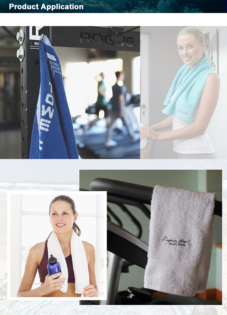 High Quality Wholesale Fitness Towel Cooling 100% Cotton Gym Towel
