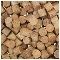 """WIDGETCO 1/4"""" Mahogany Wood Plugs, Face Grain"""