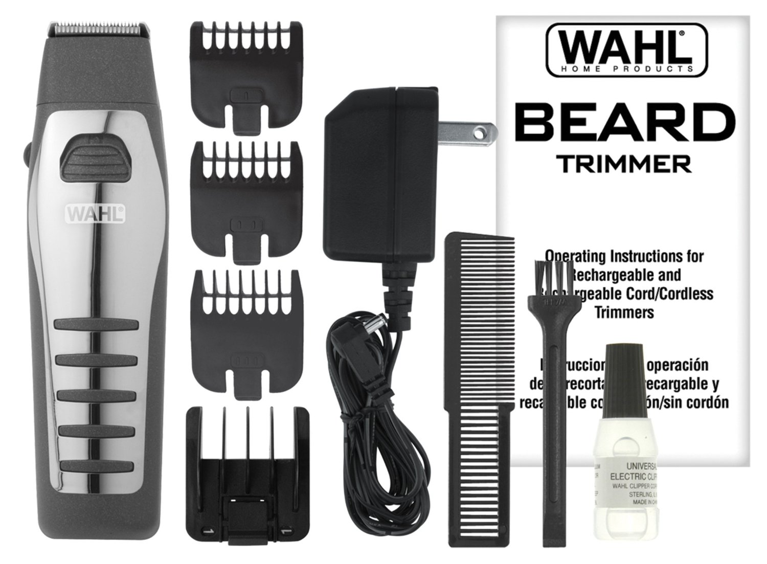 Wahl 9876-536 Rechargeable/Cordless Beard Trimmer