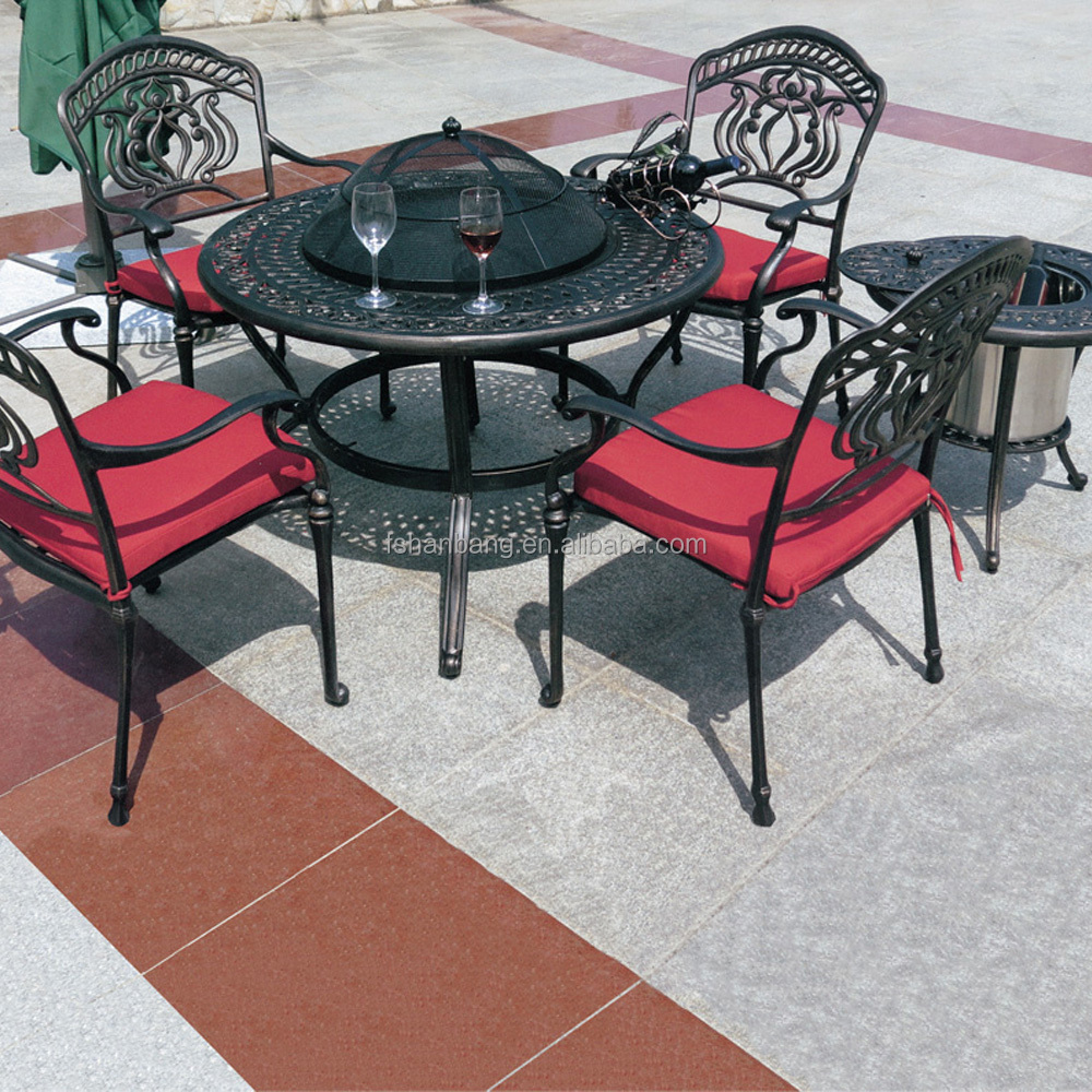 Jardin ext rieur 4 person patio en fonte d 39 aluminium for Mesas y sillas de jardin baratas