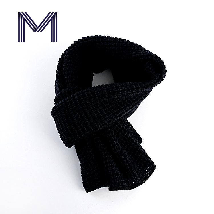 Newest shiny business customized winter black men scarf manufacture