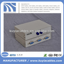 Manual 2 Port VGA Switch Box VGA Monitor Sharing Switch Box Adapter