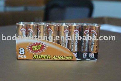 8 pcs AA size alkaline battery