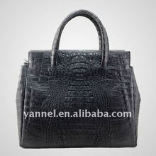 black Crocodile skin lady tote bag leather ladies purse uxury products