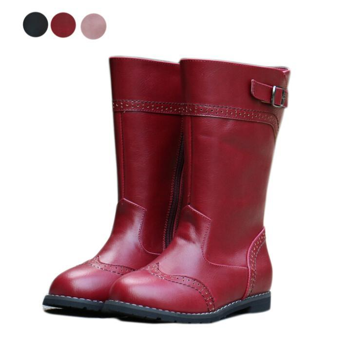 3956f90e947 Get Quotations · Fashion Children boots girls boots high quality pu leather kids  boots 2014 winter new child knee