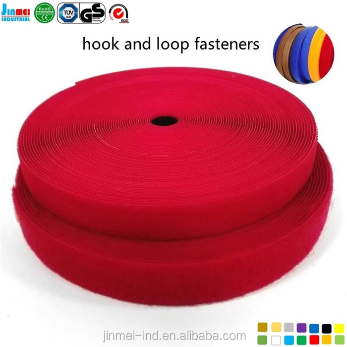 China factory Cost price 100% Nylon red hook and loop JM-HL20C