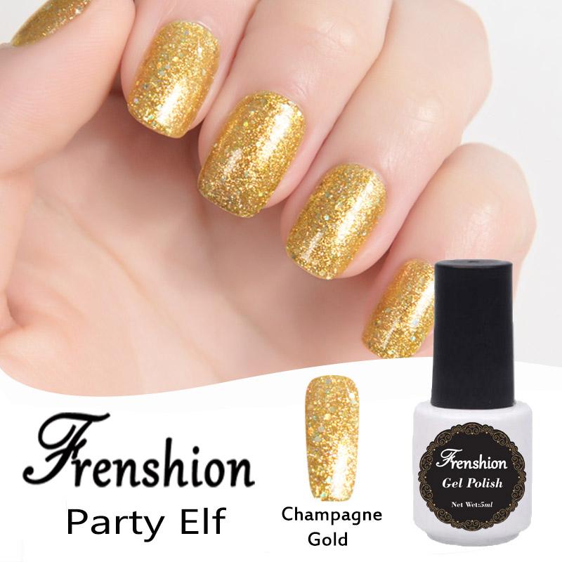 Frenshion Nail Polish Korea Bling Champagne Gold Glitter For Nail ...