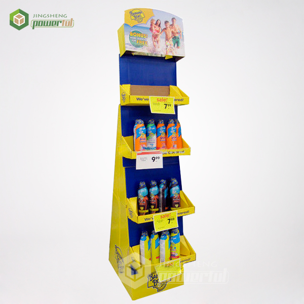 supply 4 tier banana boat bonus cardboard stationary display stand