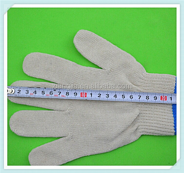 Raw white safety gloves kids cotton gloves cotton knitted gloves