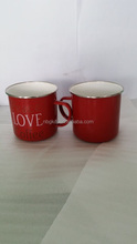 custom red mugs and cups & printed enamel mugs enamelware
