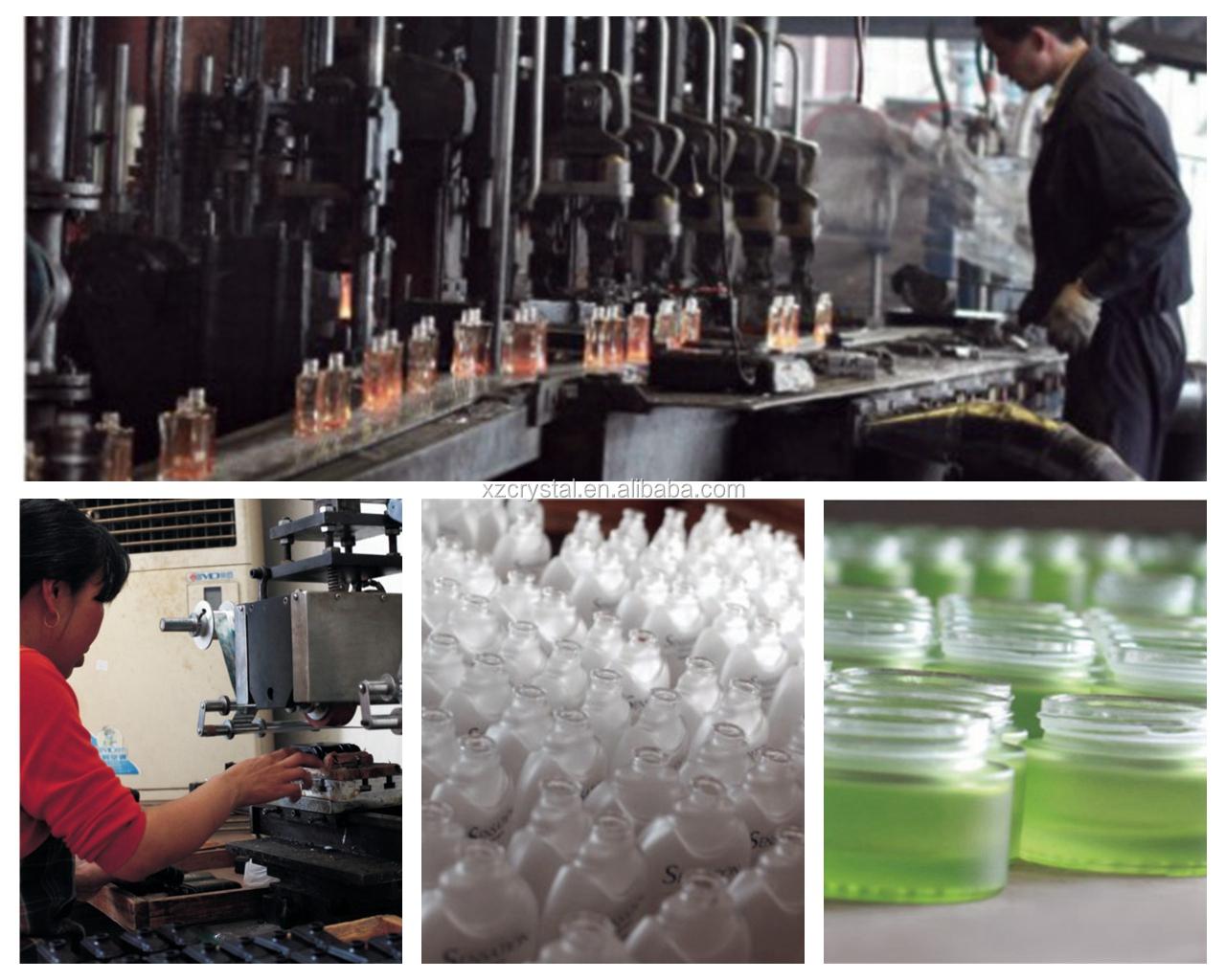 광장과 라운드 밀폐 뚜껑 오일 투명 유리 병 250/500/750/1000 ml
